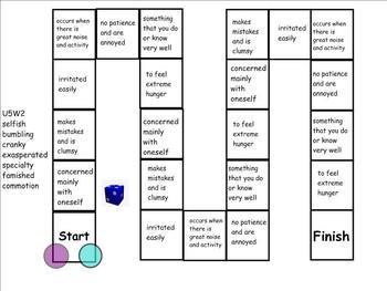 Treasures Unit 5 Vocabulary Games for 4th Grade