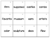 Treasures Unit 5 Vocabulary Words 1st Grade