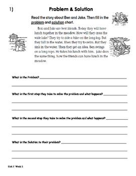 Treasures Unit 5 Week 2 Activities 1st Grade