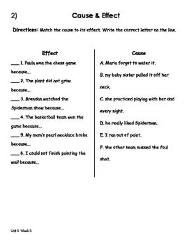 Treasures Unit 5 Week 3 Activities 1st Grade
