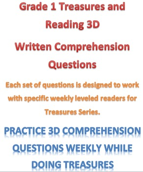 Mclass 3D Written Comprehension Questions for Treasures Series Unit 6