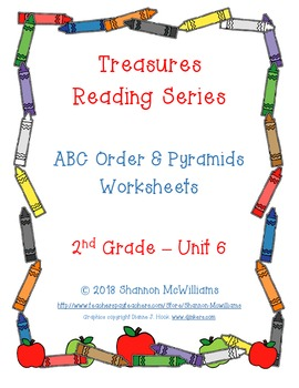 Treasures - Unit 6 - Spelling Practice Pages