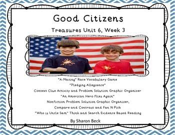 "Treasures Unit 6 Week 3 ""Good Citizens"""