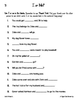 Treasures Unit 6 Week 4 Activities 1st Grade