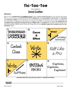 Treasures Unit 6 Week 5 Activities 1st Grade
