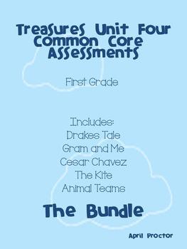 Treasures Unit Four Common Core Differentiated Assessments: The Bundle