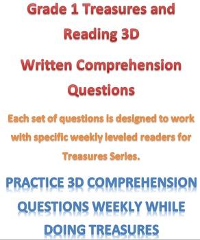 Mclass 3D Written Comp Questions for Treasures Units 1-6 Series
