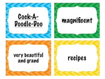 Treasures Vocabulary Activities - 3rd Grade - Unit 4