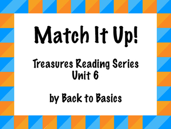 Treasures Vocabulary Activities - 3rd Grade - Unit 6