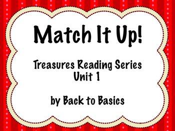 Treasures Vocabulary Activities - 3rd Grade - Unit 1
