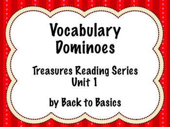 Treasures Vocabulary Activities - 3rd Grade - Unit 1