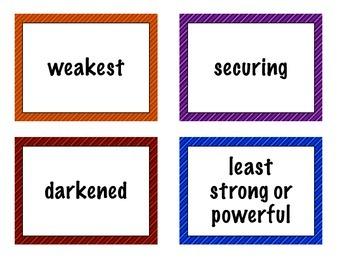 Treasures Vocabulary Activities - 3rd Grade - Unit 2