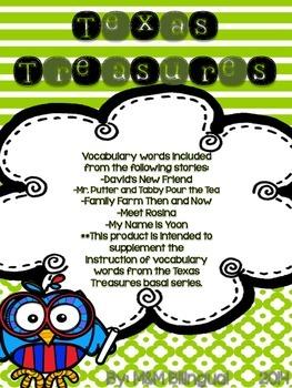 Treasures Vocabulary Flip Books - 2nd grade Unit 1