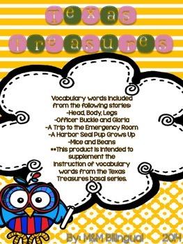 Treasures Vocabulary Flip Books - 2nd grade Unit 4