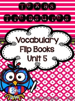 Treasures Vocabulary Flip Books - 2nd grade Unit 5