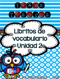 Treasures Vocabulary Flip Books {SPANISH} - 2nd grade Unit 2