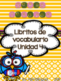 Treasures Vocabulary Flip Books {SPANISH} - 2nd grade Unit 4