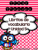 Treasures Vocabulary Flip Books {SPANISH} - 2nd grade Unit 5