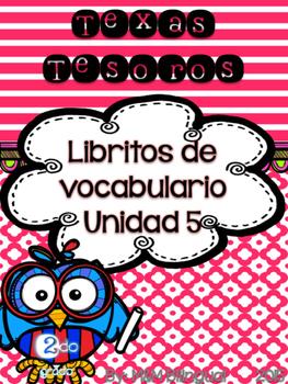 Treasures Vocabulary Flip Books {SPANISH} - 2nd grade Unit 5