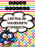 Treasures Vocabulary Flip Books {SPANISH} - 2nd grade Unit 6