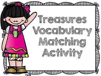 Treasures Vocabulary Matching Freebie