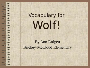 Treasures Vocabulary Power Point for Wolf!