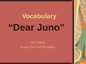 Treasures Vocabulary Powerpoint for Dear Juno
