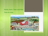 Treasures Vocabulary Powerpoint for Family Farm: Then and Now