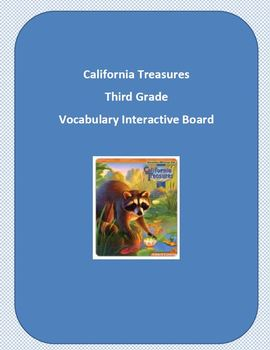 Treasures Vocabulary Third Grade Interactive Board : California