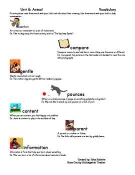 Treasures Vocabulary unit five-animals