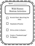 Treasures Wild Horses 4th Grade Station Activities