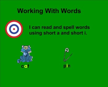 Treasures Working With Words 1.1 SMART board