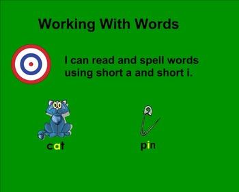 Treasures Working With Words 1.1 SMART board