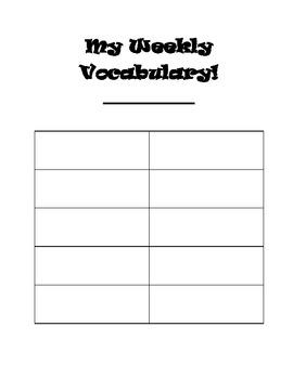 Treasures series 3rd Grade Weekly Vocabulary