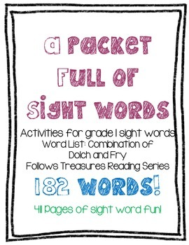Treasures Sight Words: Complete Pack