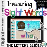Treasuring Sight Words Paperless Activities with Audio - O
