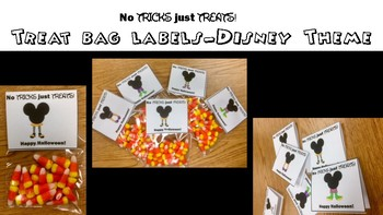 Treat Bag Labels- Disney Halloween Theme