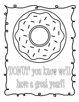 DONUT Treat Bag Toppers for STUDENTS