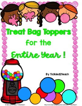 Treat Bag Toppers for the Entire Year