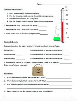 Treat Measuring Lab - Halloween Theme