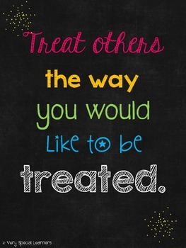 """Treat Others"" Inspirational Quote FREEBIE!"