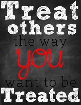 Encouraging Words Poster Pack-Treat Others