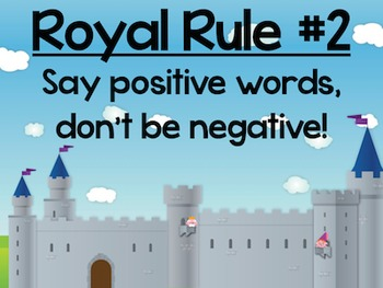 Treat People Royally – Guidelines for Classroom Behavior