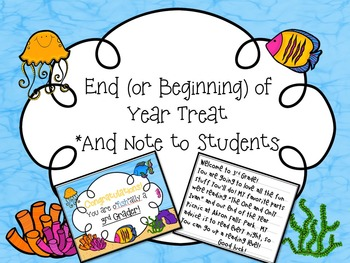 End of Year Treat Tags