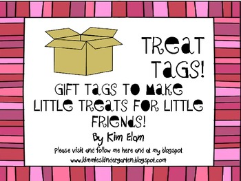 Treat Tags For Little Bags!