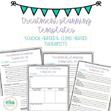 Treatment Planning Templates- Occupational Therapy, Speech Therapy