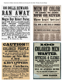 Runaway Slave Poster Activity