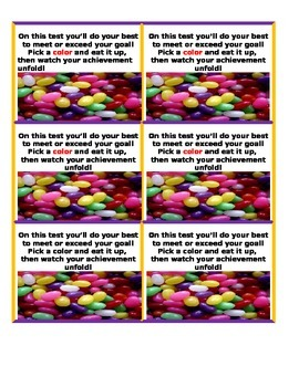 Treats Before Tests Assessment Add your Candy and Treat Tag