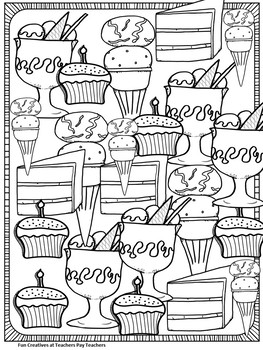 Treats Coloring Page for Rainy Days FREE!