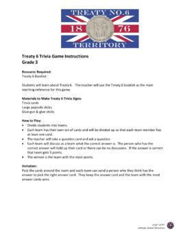 Treaty 6 Trivia Game